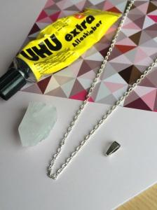 Kristallkette selber machen
