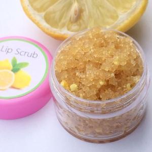 Lip Scrub Peeling Lippen vegan Zitrone