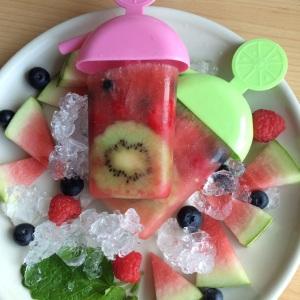 Popsicles Wassereis vegan gesund Früchte