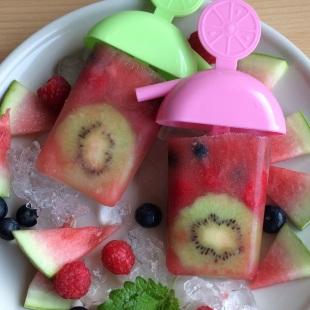 Wassereis lecker Sommer gesund Rezept