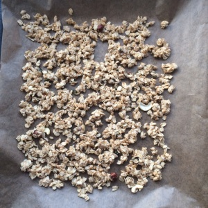 Granola Knuspermüsli selber machen Nüsse Frühstück