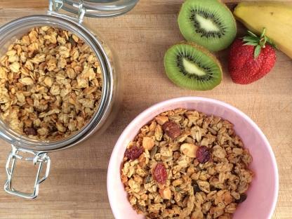 Granola vegan selbst gemacht Müsli gesund