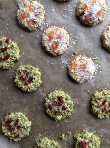 Cookies Matcha Chia Trockenfrüchte Nüsse