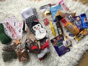 Adventskalender aus Socken selber basteln DIY